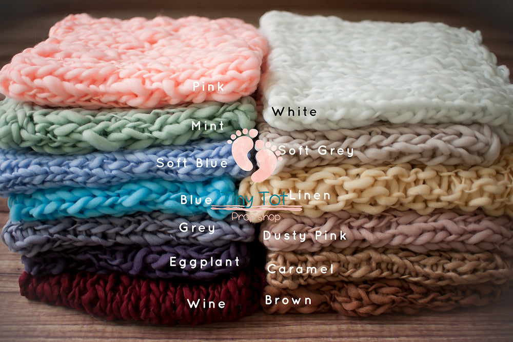 Chunky Knit Bump Blankets - Chunky Knit Layers - Newborn Photo Props - Shop for Newborn Photo Props Online - Tiny Tot Prop Shop - Canadian Photography Props - Vancouver Island