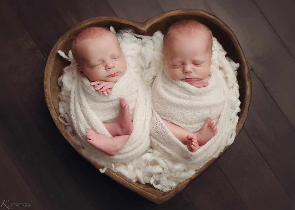 Carved Wooden Heart Shaped Bowls - Newborn Photo Props - Shop for Newborn Photo Props Online - Tiny Tot Prop Shop - Canadian Photography Props - Vancouver Island