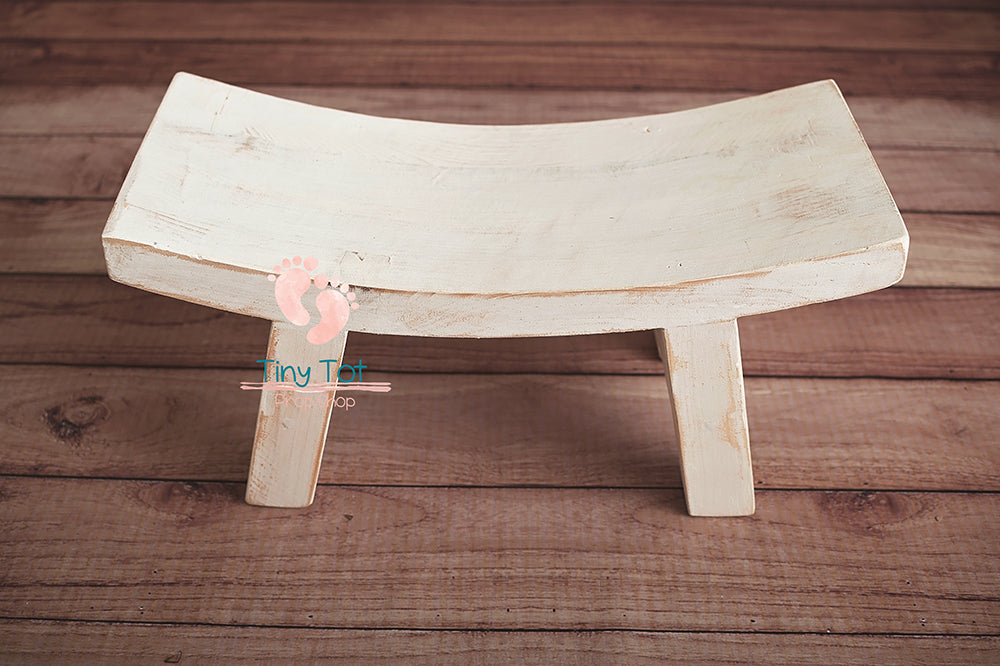 Rustic Curved Bench - Newborn Photo Props Canada - Tiny Tot Prop Shop - Wooden Photo Props