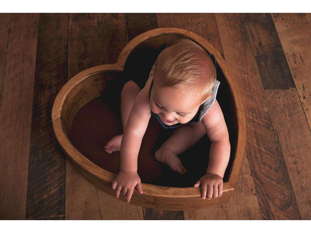 Large Wooden Heart Bowl - Newborn Photo Props - Shop for Newborn Photo Props Online - Tiny Tot Prop Shop