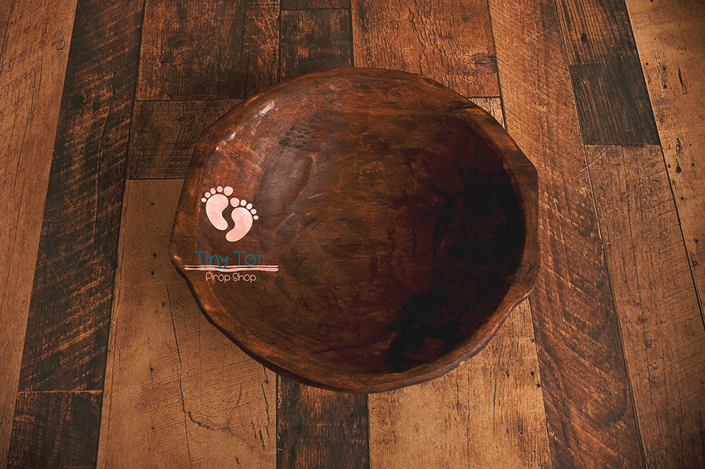 The Deep Rustic Bowl - Newborn Photo Props - Shop for Newborn Photo Props Online - Tiny Tot Prop Shop