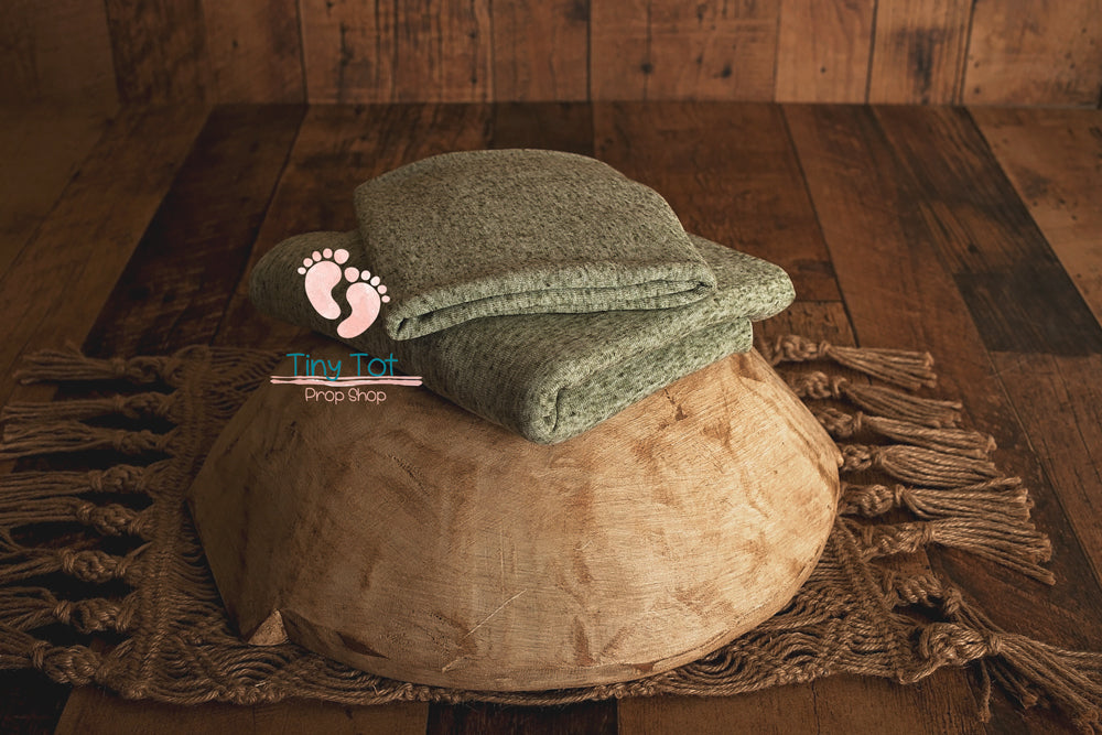 Earth Green Jersey Knit Fabric Sets - Earth Green Texture Posing Fabric - Beanbag Fabric - Backdrop Posing Fabric - Newborn Photo Props Canada - Shop for Newborn Photo Props Online - Tiny Tot Prop Shop - Vanouver Island - Canadian Photography Props