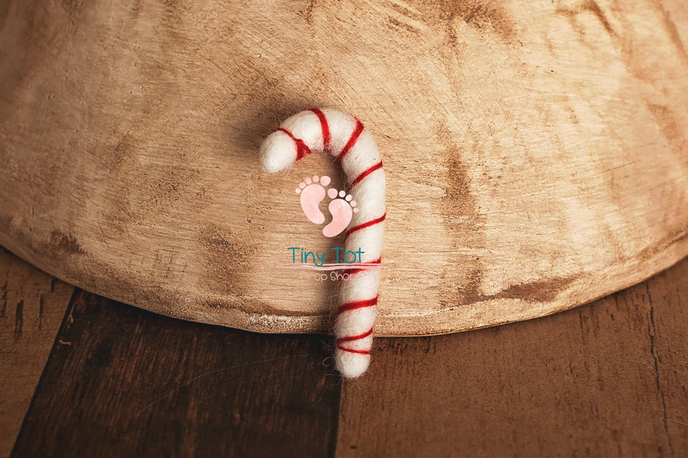 Newborn Felt Candy Cane - Newborn Photo Props - Shop for Newborn Photo Props Online - Tiny Tot Prop Shop