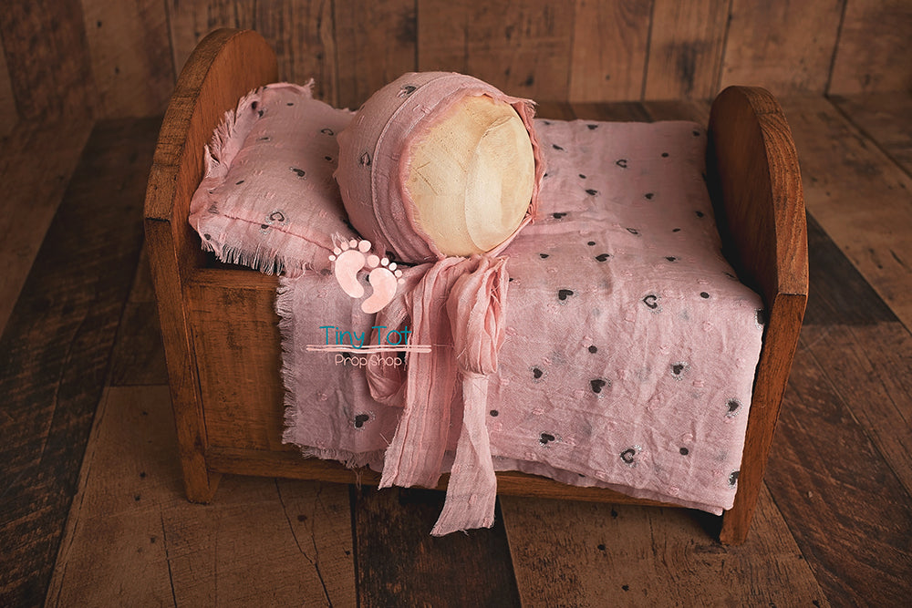 Flowery Fringe Pillow Set - Pillow, Bonnet, and Layer Set - Bonnet Set - Newborn Photo Props - Tiny Tot Prop Shop - Canadian Photography Props