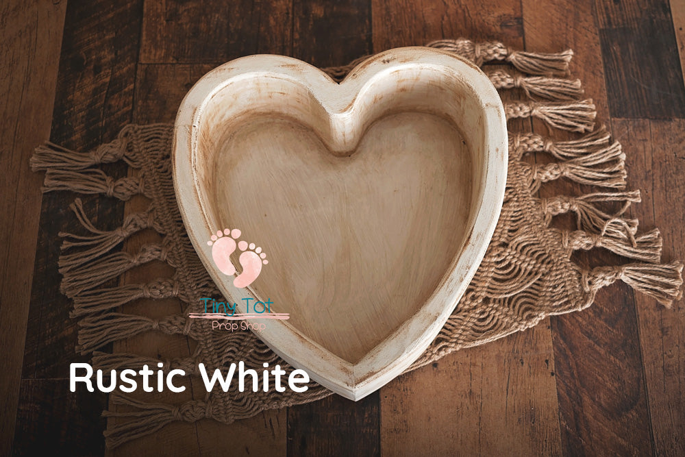 Wooden Heart Bowl - Newborn Photo Props - Shop for Newborn Photo Props Online - Tiny Tot Prop Shop