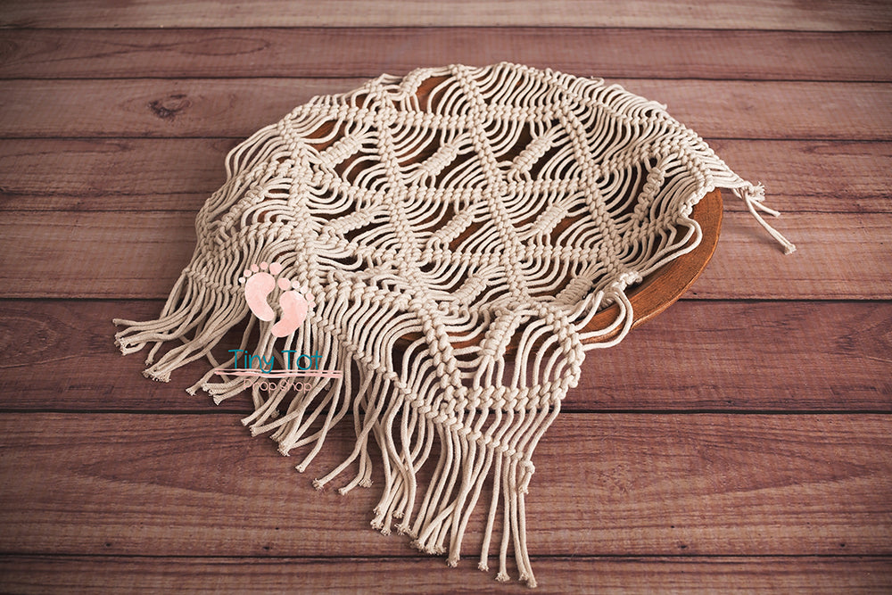 Signature Cream Macrame Layers - Newborn Photo Props - Shop for Newborn Photo Props Online - Tiny Tot Prop Shop