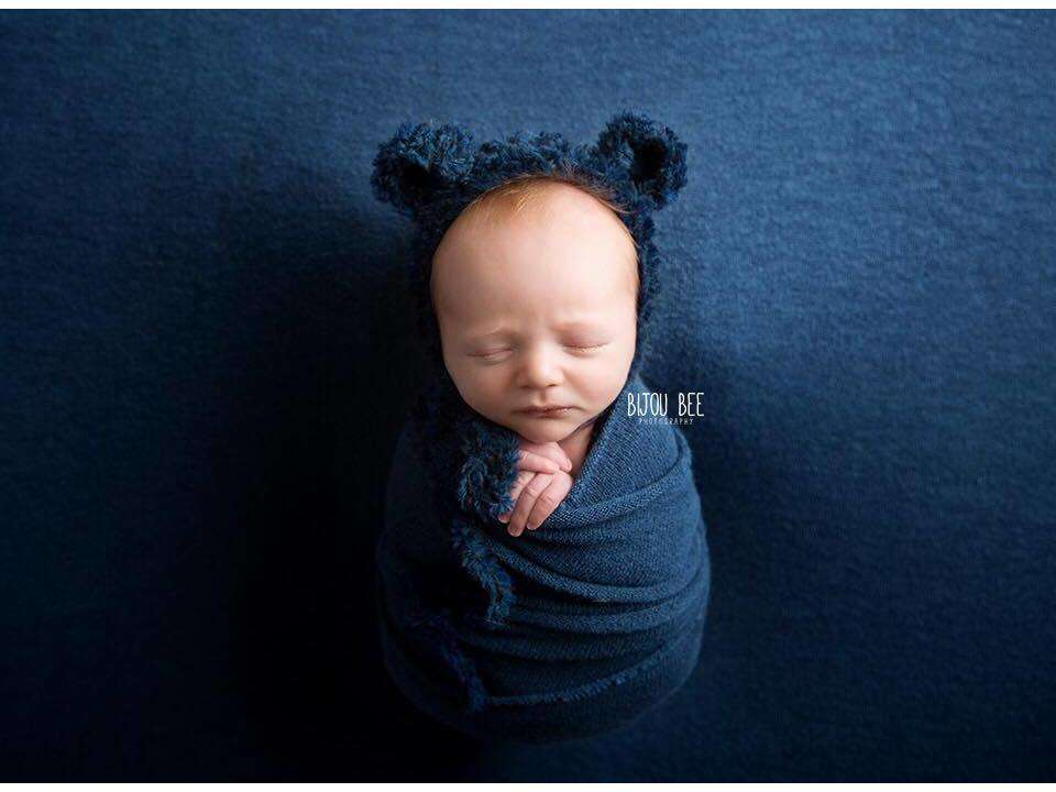 Fluffy Bear Bonnets - Newborn Photo Props - Shop for Newborn Photo Props Online - Tiny Tot Prop Shop