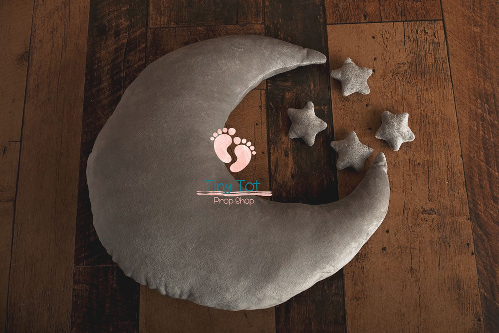 Moon and Stars Photo Prop - Moon Pillow Prop - Stars Props - Stars and Moon - Newborn Photo Props Canada - Tiny Tot Prop Shop - Canadian Photography Props - Vancouver Island