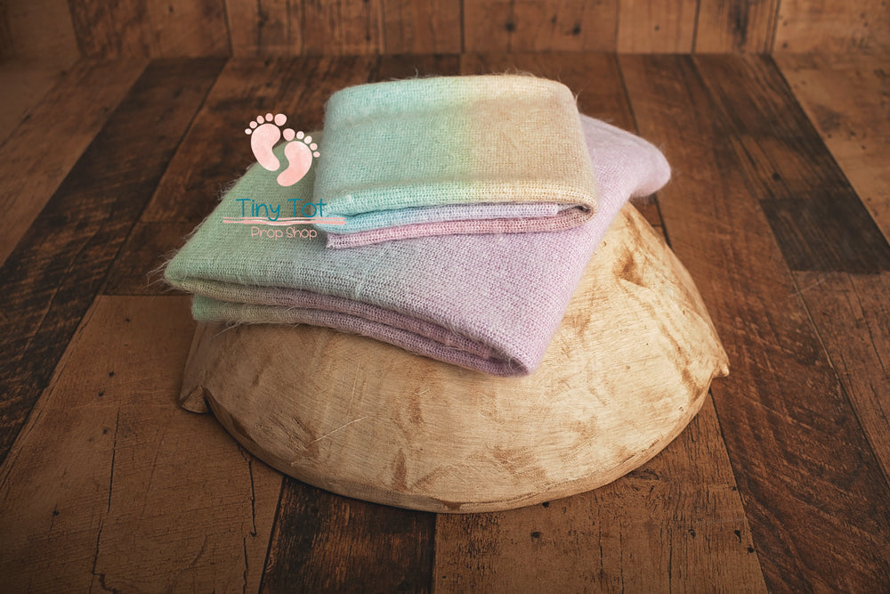 Soft Rainbow Posing Fabric Set - Newborn Photo Props - Shop for Newborn Photo Props Online - Tiny Tot Prop Shop