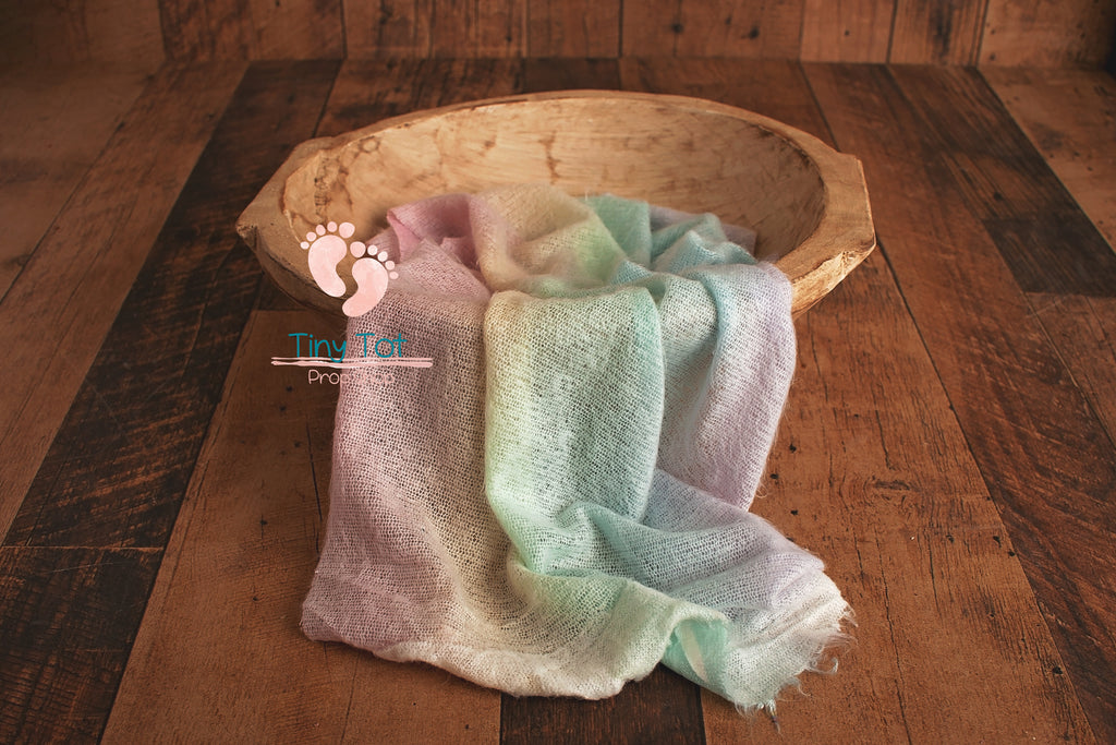 Soft Rainbow Knit Wrap - Newborn Photo Props - Shop for Newborn Photo Props Online - Tiny Tot Prop Shop