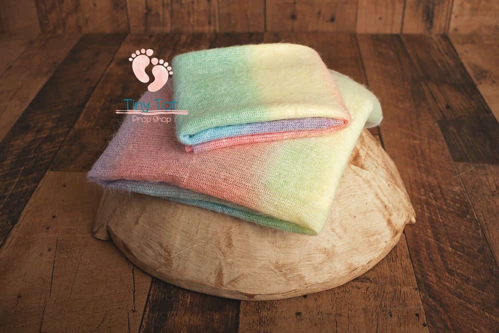 Soft Vibrant Rainbow Posing Fabric Set - Newborn Photo Props - Shop for Newborn Photo Props Online - Tiny Tot Prop Shop