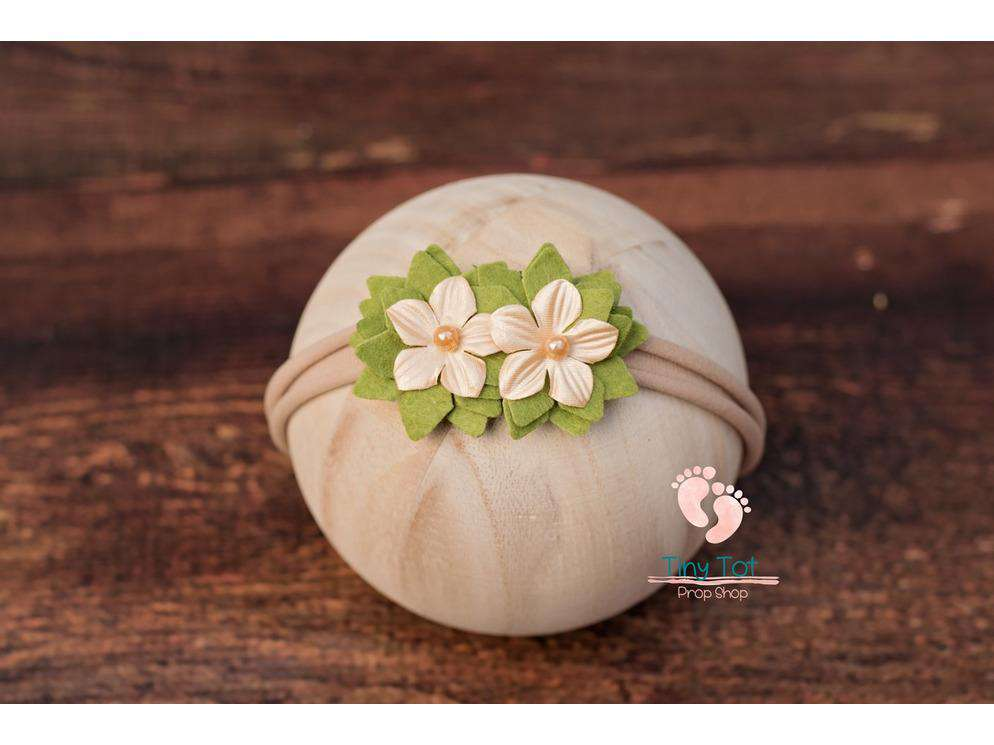 Brown Felt Flower Headband - Newborn Photo Props - Shop for Newborn Photo Props Online - Tiny Tot Prop Shop