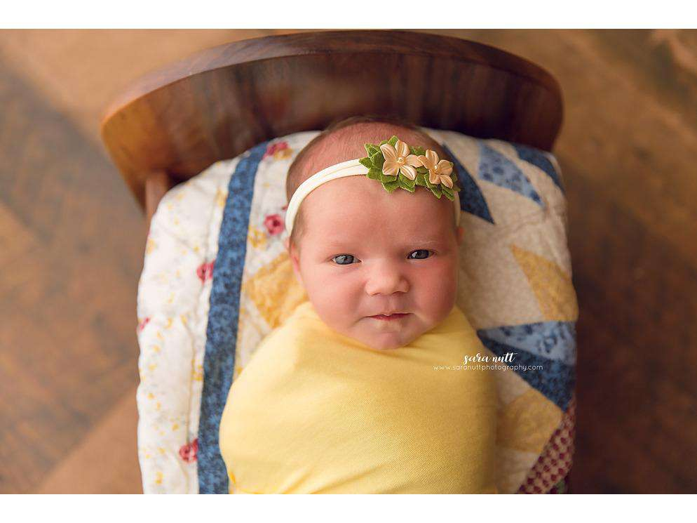 Cream Felt Flower Headband - Newborn Photo Props - Shop for Newborn Photo Props Online - Tiny Tot Prop Shop