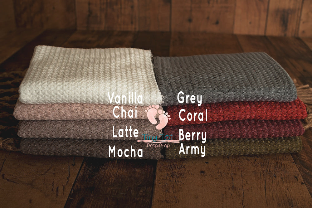 Waffle Knit Posing Fabric Sets - Newborn Photo Props - Shop for Newborn Photo Props Online - Tiny Tot Prop Shop