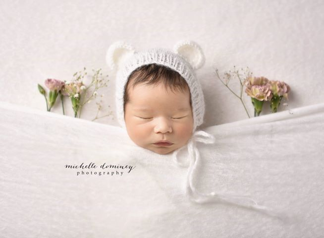 Teddy Bear Photo Prop - Teddy Bear Lovey -Teddy Bear Bonnet - Teddy Bear Set -  Newborn Photo Props Canada - Tiny Tot Prop Shop - Canadian Photography Props - Vancouver Island