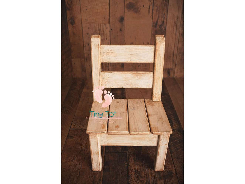 Rustic Wooden Chair - Wooden Photo Props - Newborn Photo Props Canada - Tiny Tot Prop Shop