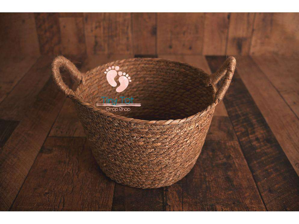 Natural Woven Basket - Newborn Photo Props - Shop for Newborn Photo Props Online - Tiny Tot Prop Shop