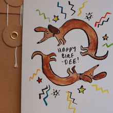 Load image into Gallery viewer, Sausage Dog Birthday Card