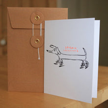 Load image into Gallery viewer, Sausage Greetings Risograph Card