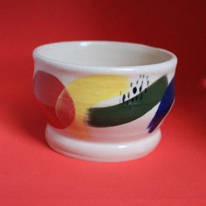 Four Colour Pattern Pot Small