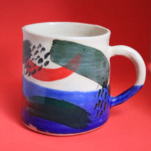 Load image into Gallery viewer, Blue Dipped Pattern Mug