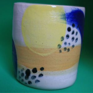 Brushstroke Yellow Pot Medium