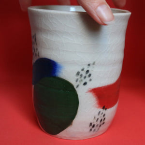 Brushstroke / Block Colour Vase Medium