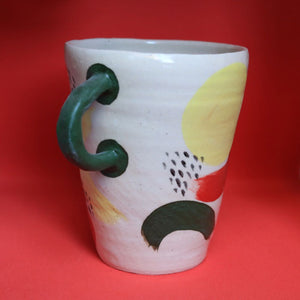 Block Colour Handle Vase