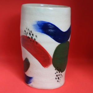 Brushstroke Primary Colour Vase