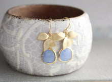 Load image into Gallery viewer, Gold Orchid Earrings - 12 Colors