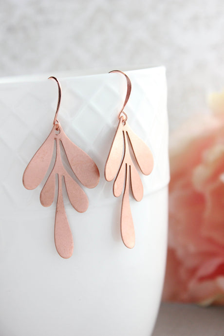 Boho Leaf Earrings - Copper (3 options)
