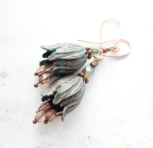 Load image into Gallery viewer, Tulip Earrings - Aqua Copper