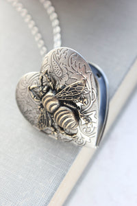 Bee Heart Locket