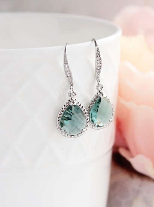 Sparkle Drop Earrings - Erinite Glass