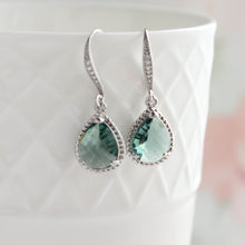 Load image into Gallery viewer, Sparkle Drop Earrings - Erinite Glass