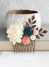 Load image into Gallery viewer, Floral Hair Comb - C1004