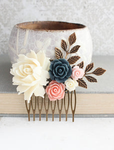 Floral Hair Comb - C1004