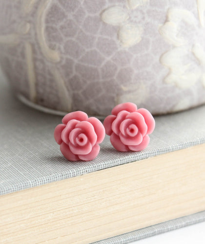 Rose Studs - Dusty Pink