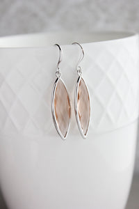 Marquis Drop Earrings - Blush