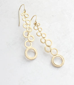 Cascading Bubble Earrings - Gold