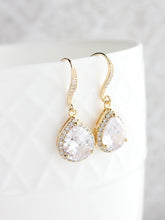 Load image into Gallery viewer, Crystal Drop Earrings - Gold