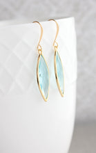 Load image into Gallery viewer, Marquis Drop Earrings - Aquamarine