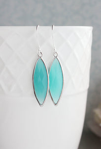 Marquis Drop Earrings - Teal