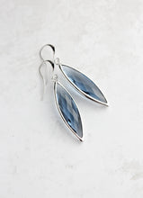 Load image into Gallery viewer, Marquis Drop Earrings - Navy/Silver