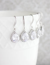 Load image into Gallery viewer, Crystal Drop Earrings - Rose Gold