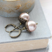 Load image into Gallery viewer, Pearl Acorn Earrings (16 Pearl Colors)