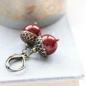 Pearl Acorn Earrings (16 Pearl Colors)