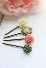 Load image into Gallery viewer, Flower Bobby Pins - BP1032