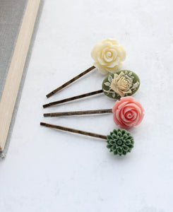 Flower Bobby Pins - BP1032