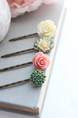 Flower Bobby Pins - BP1032 NEW
